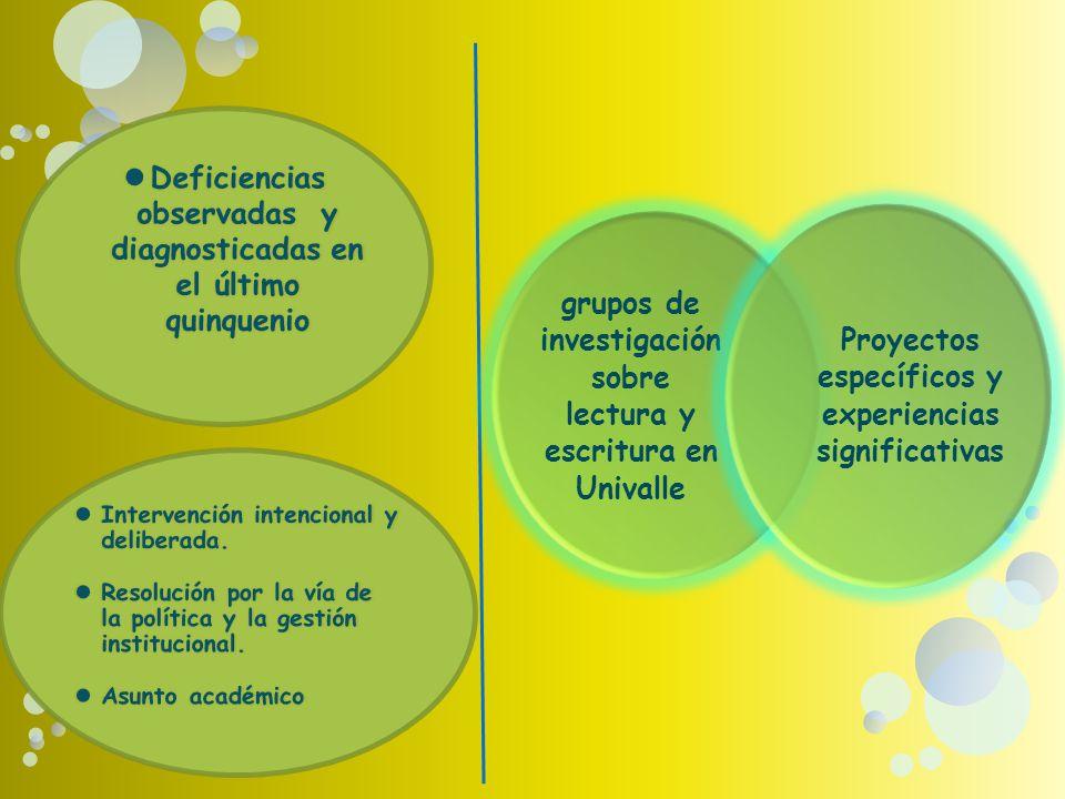 Deficiencias observadas y diagnosticadas en el último quinquenio