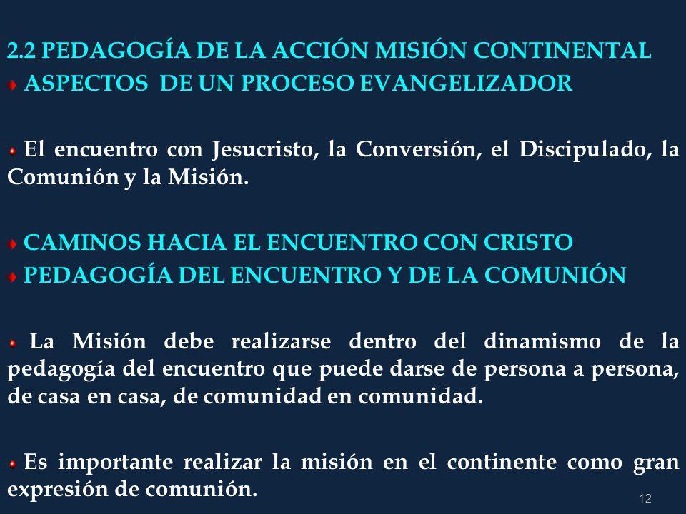2.2 PEDAGOGÍA DE LA ACCIÓN MISIÓN CONTINENTAL