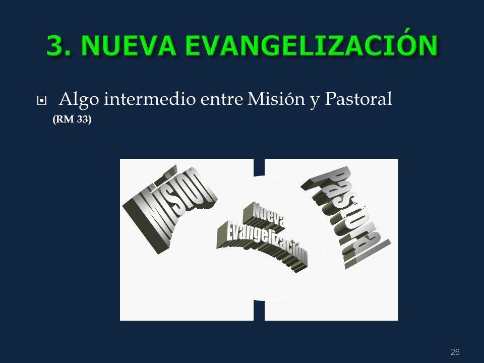3. NUEVA EVANGELIZACIÓN Misión Pastoral