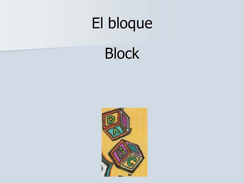 El bloque Block