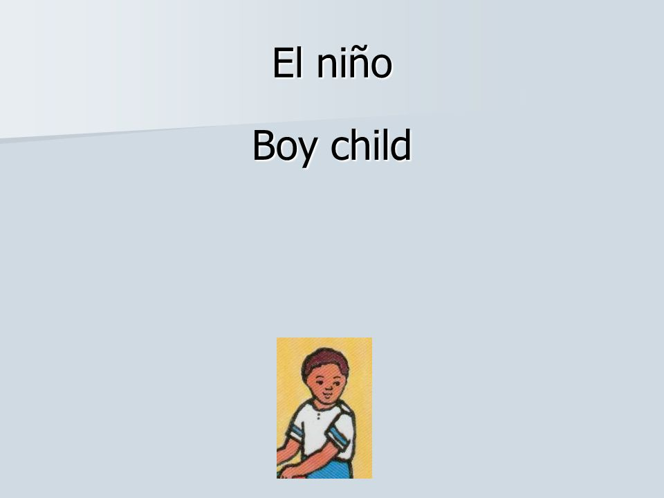 El niño Boy child