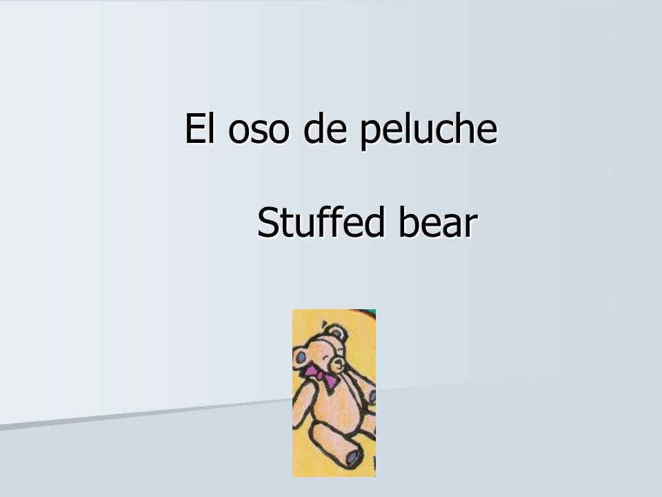 El oso de peluche Stuffed bear