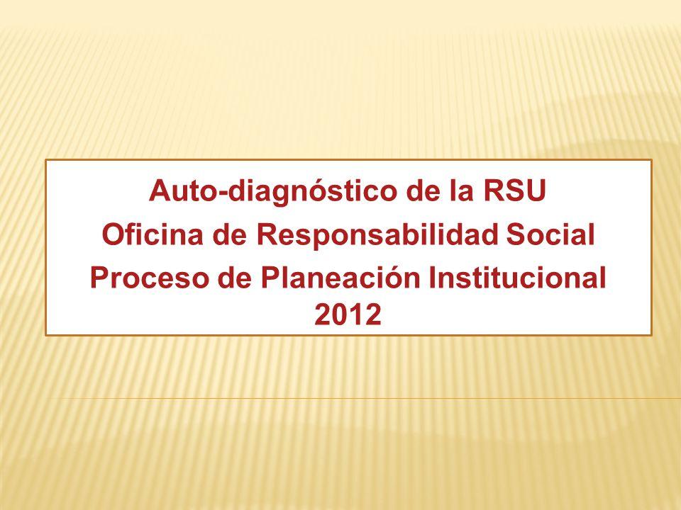 Auto-diagnóstico de la RSU Oficina de Responsabilidad Social