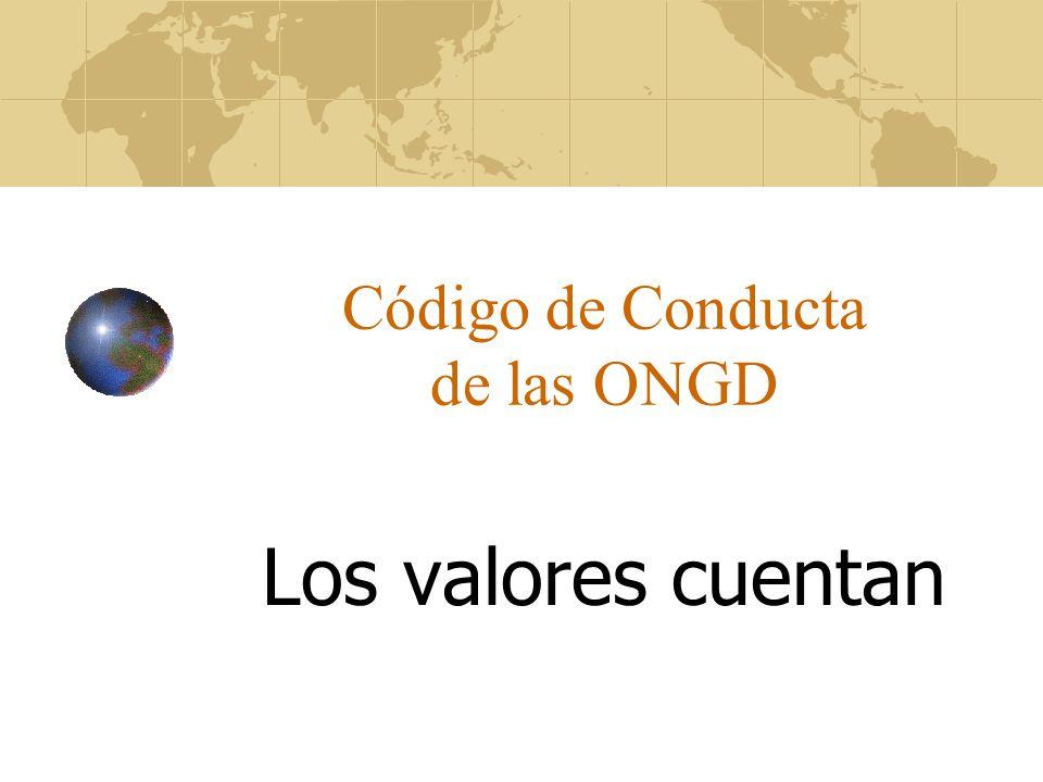 Código de Conducta de las ONGD