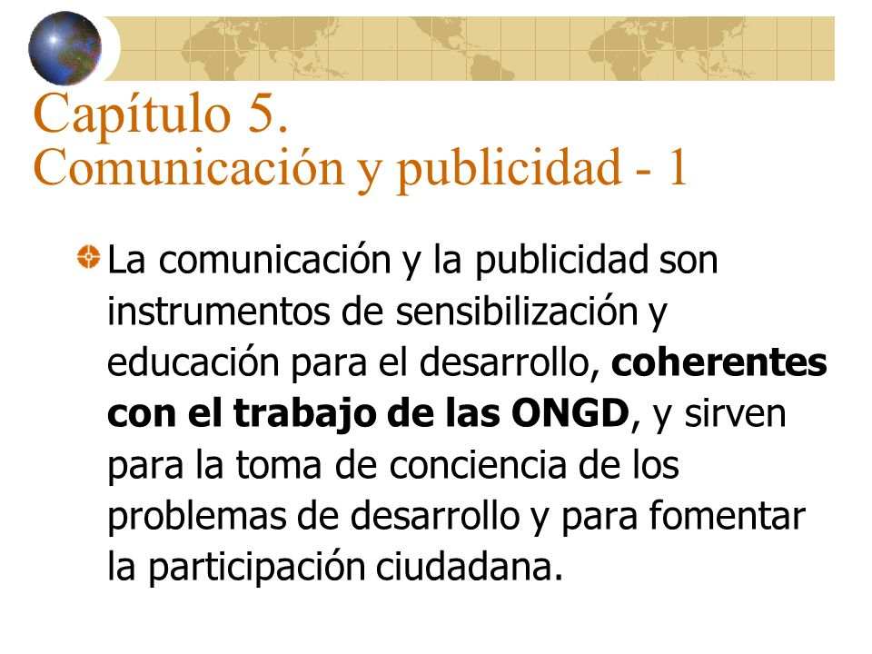Capítulo 5. Comunicación y publicidad - 1