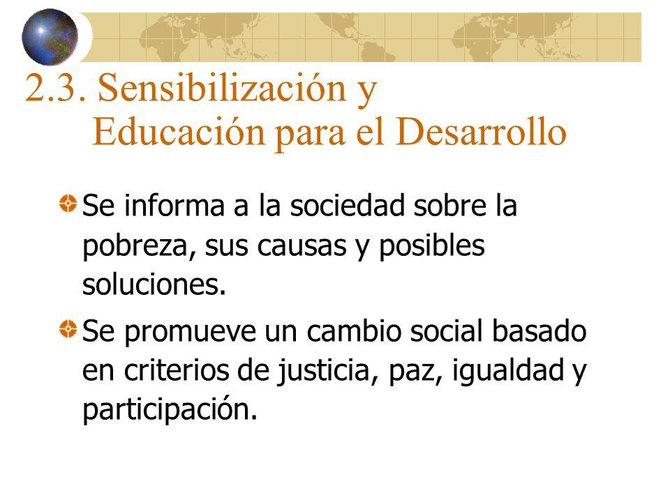 2.3. Sensibilización y Educación para el Desarrollo