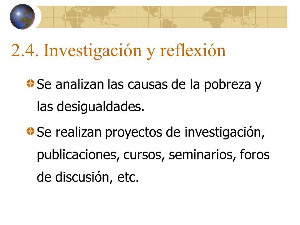 2.4. Investigación y reflexión