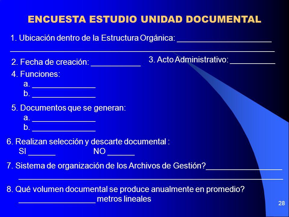 ENCUESTA ESTUDIO UNIDAD DOCUMENTAL