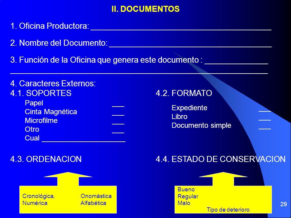 1. Oficina Productora: ________________________________________