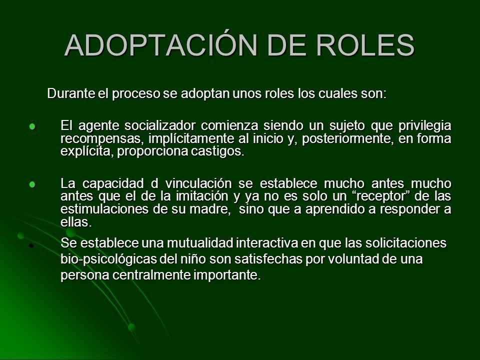 ADOPTACIÓN DE ROLES Durante el proceso se adoptan unos roles los cuales son: