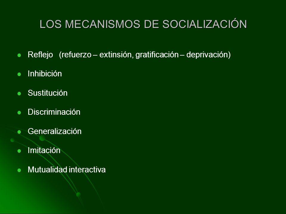 LOS MECANISMOS DE SOCIALIZACIÓN