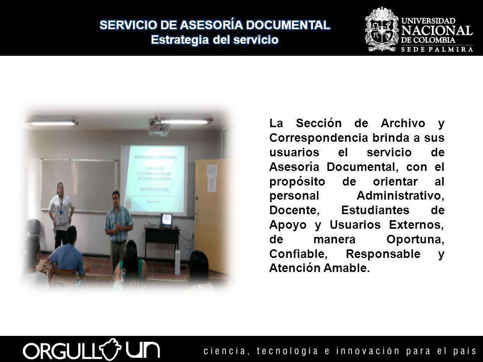 SERVICIO DE ASESORÍA DOCUMENTAL Estrategia del servicio