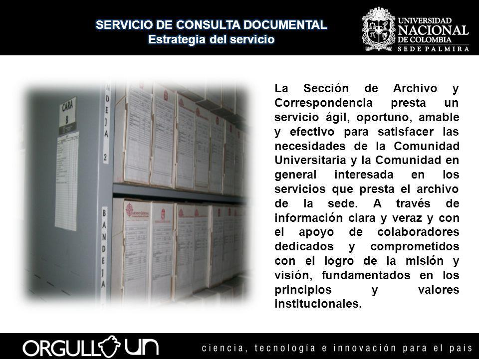 SERVICIO DE CONSULTA DOCUMENTAL Estrategia del servicio