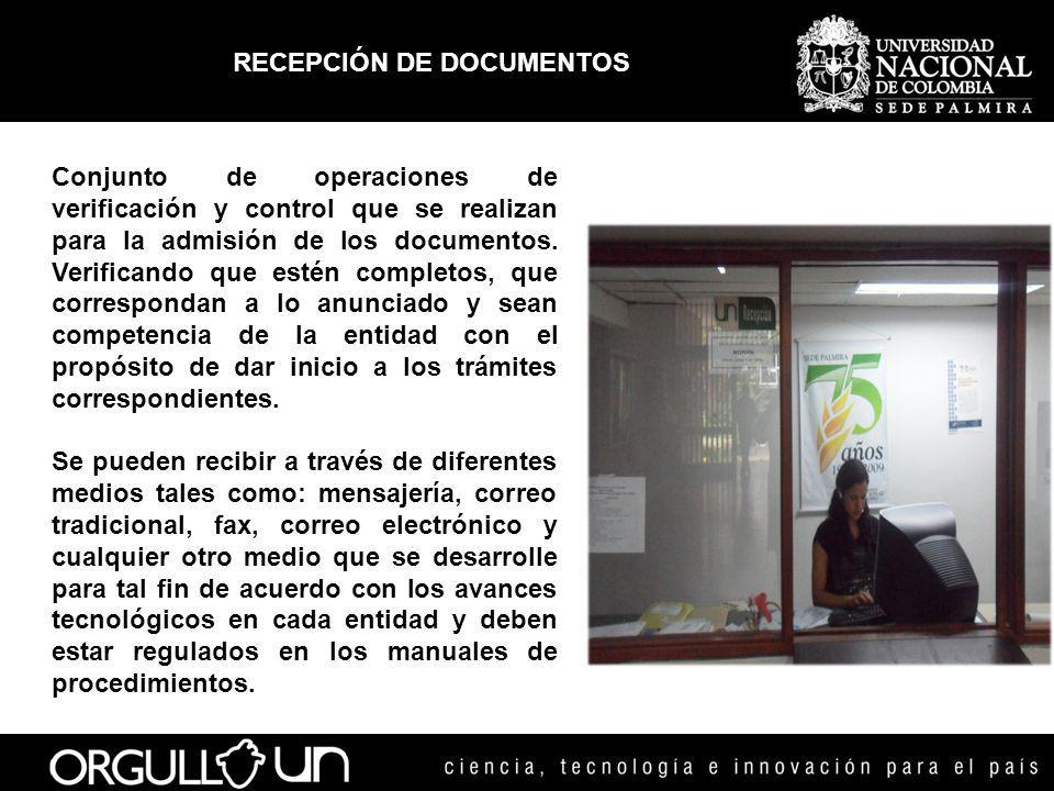 RECEPCIÓN DE DOCUMENTOS