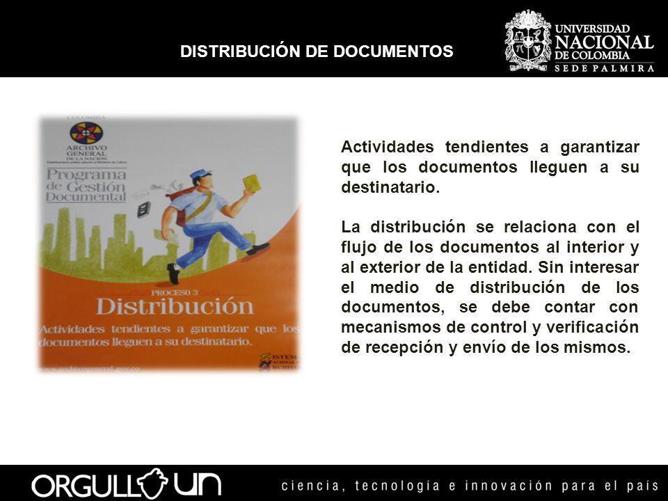 DISTRIBUCIÓN DE DOCUMENTOS