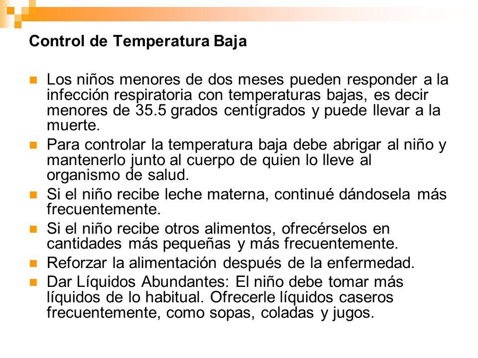 Control de Temperatura Baja