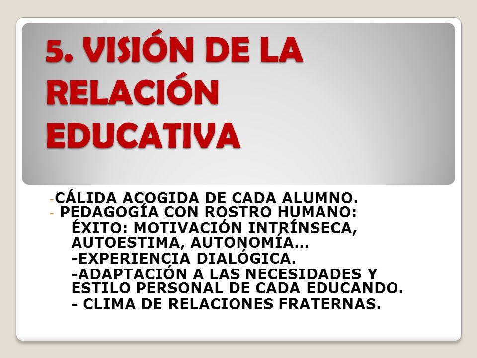 5. VISIÓN DE LA RELACIÓN EDUCATIVA