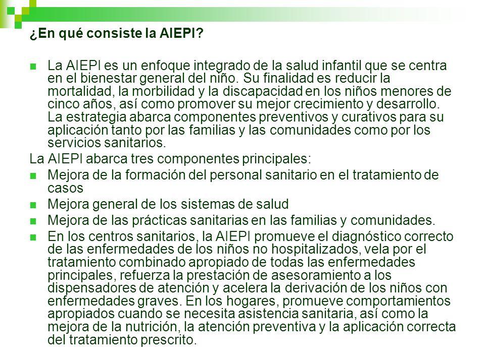 ¿En qué consiste la AIEPI