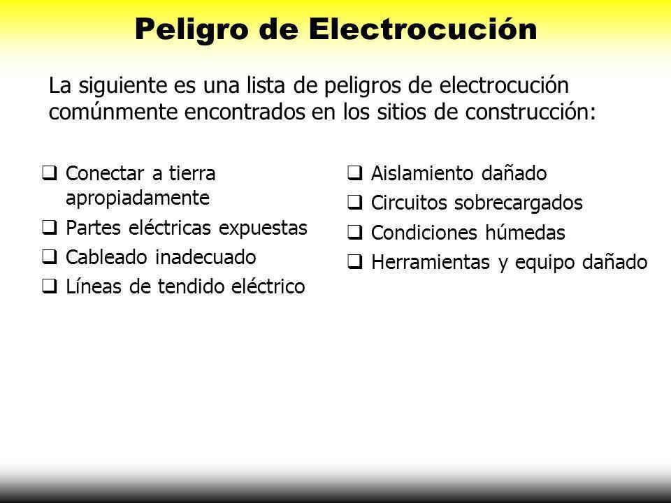 Peligro de Electrocución