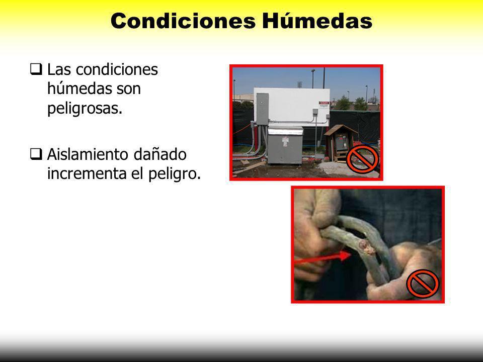 Condiciones Húmedas Las condiciones húmedas son peligrosas.