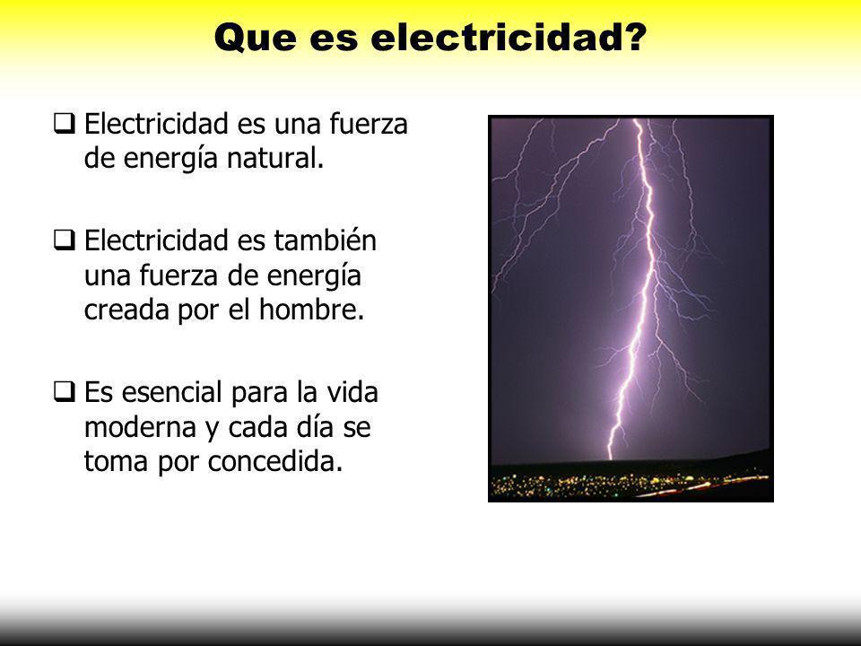 Que es electricidad Electricidad es una fuerza de energía natural.