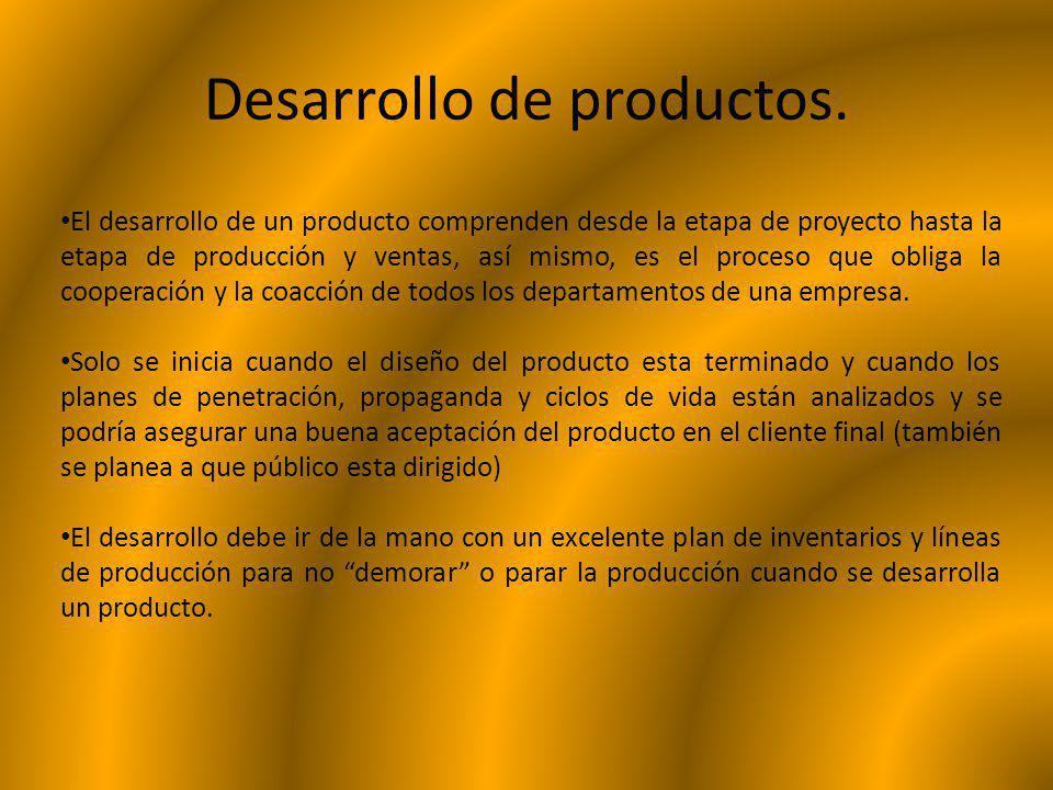 Desarrollo de productos.