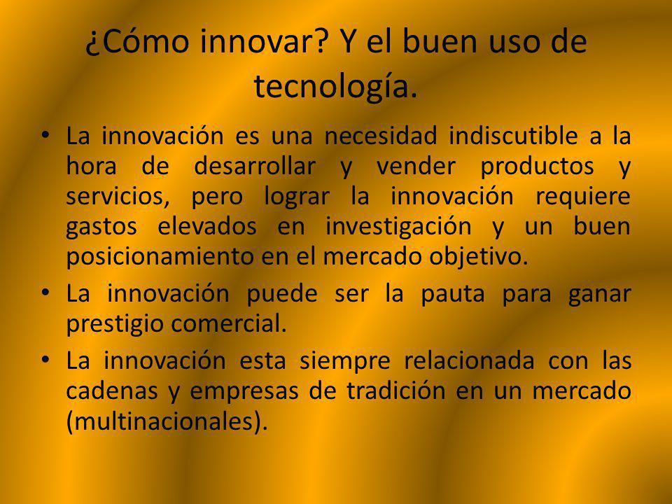 ¿Cómo innovar Y el buen uso de tecnología.