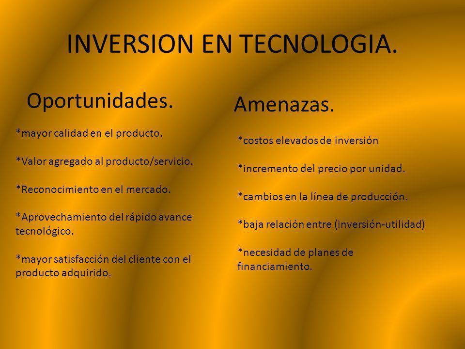 INVERSION EN TECNOLOGIA.