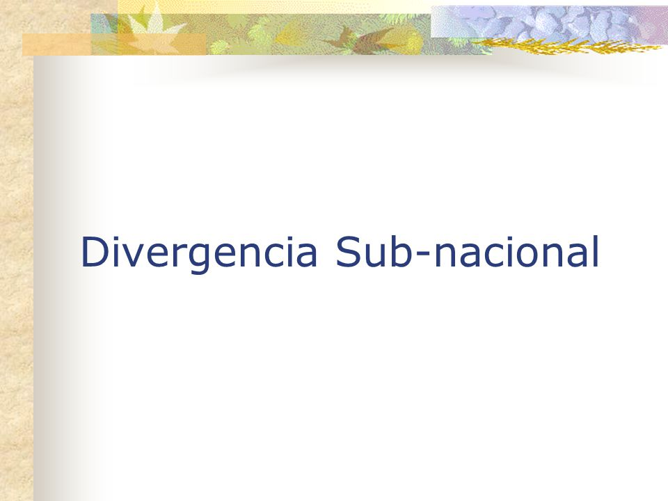 Divergencia Sub-nacional