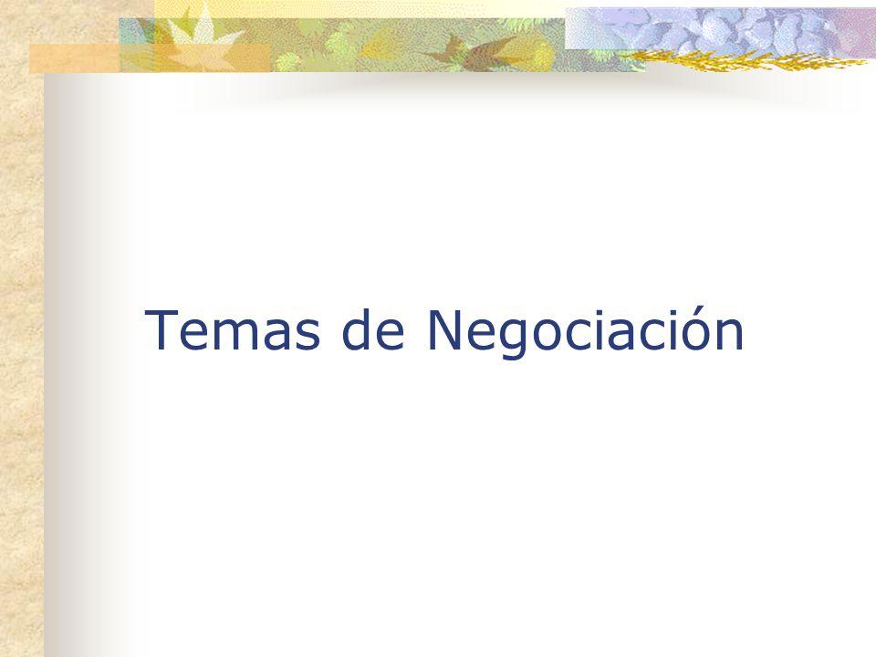 Temas de Negociación