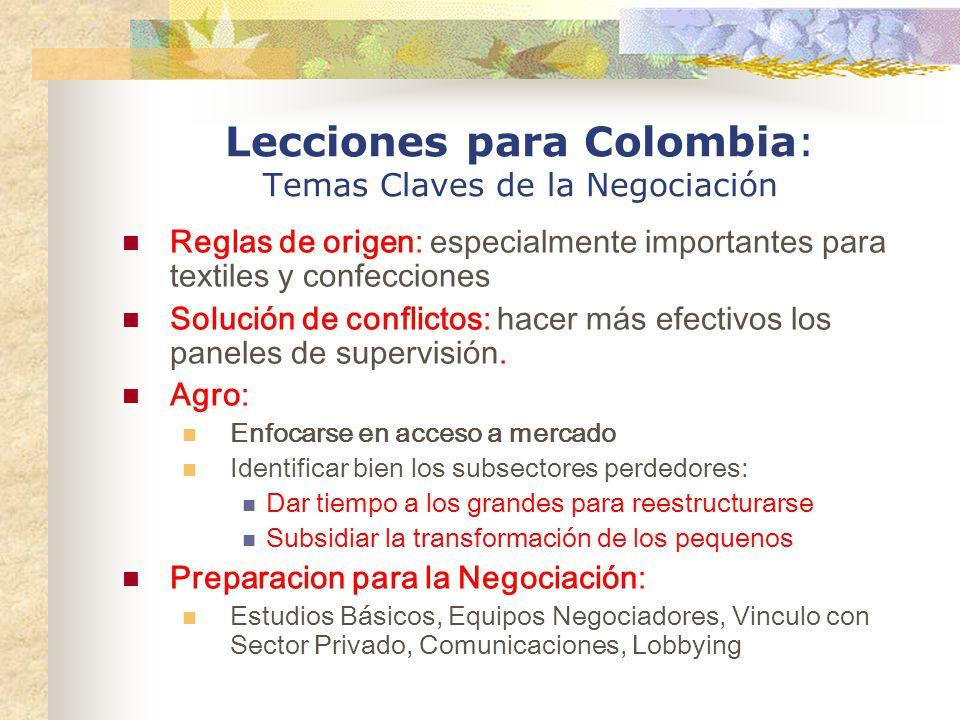 Lecciones para Colombia: Temas Claves de la Negociación