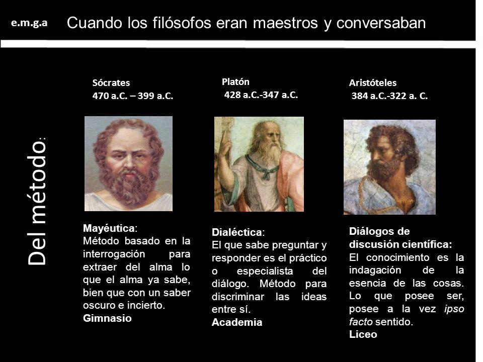 Cuando los filósofos eran maestros y conversaban