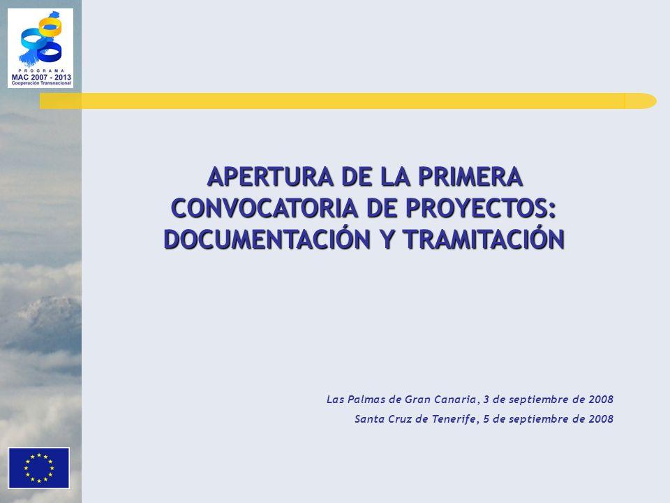 APERTURA DE LA PRIMERA CONVOCATORIA DE PROYECTOS: DOCUMENTACIÓN Y TRAMITACIÓN