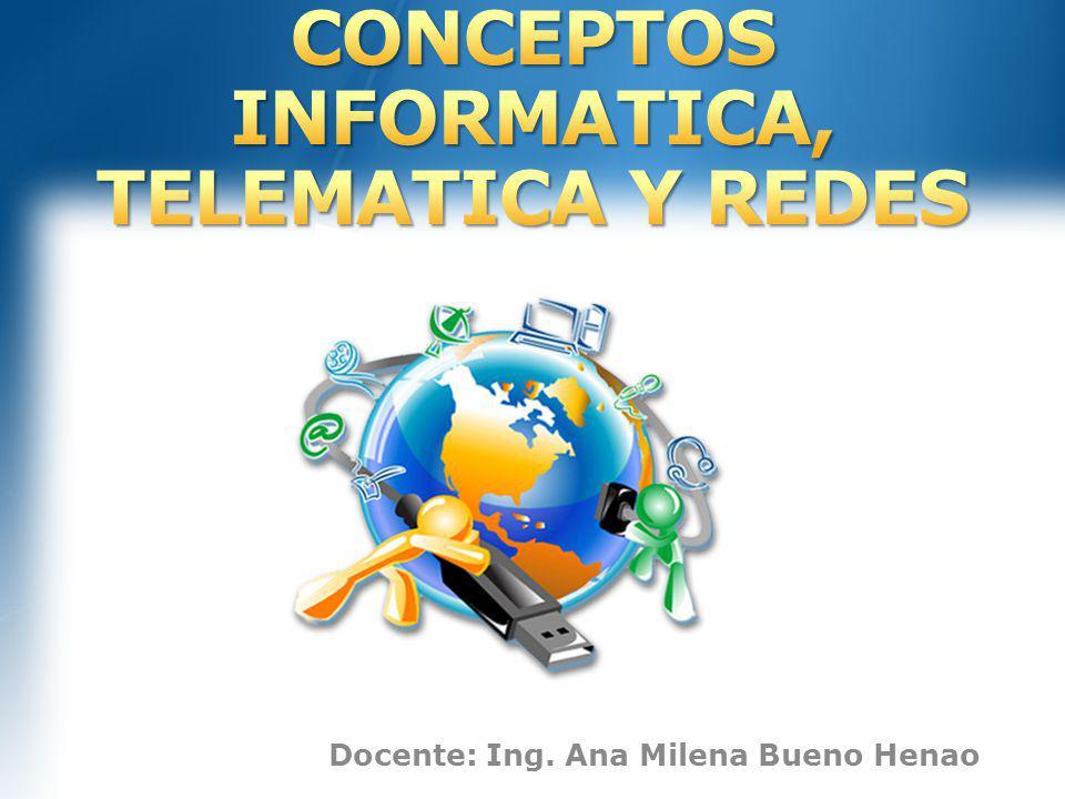 CONCEPTOS INFORMATICA, TELEMATICA Y REDES