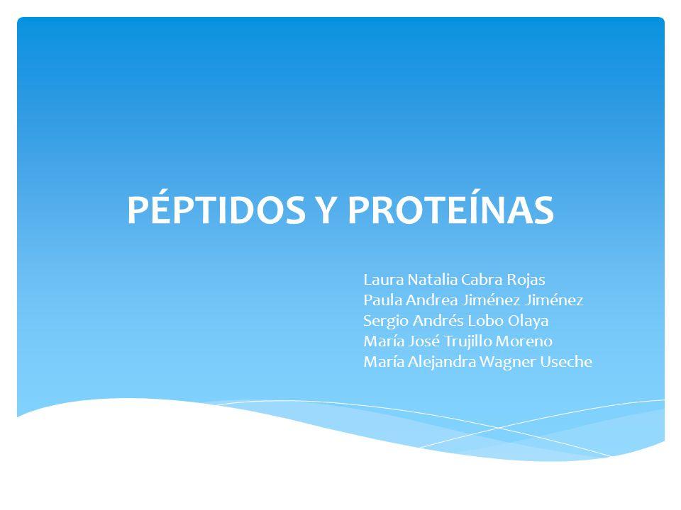 PÉPTIDOS Y PROTEÍNAS Laura Natalia Cabra Rojas
