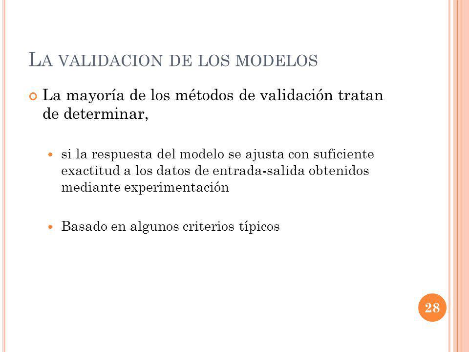 La validacion de los modelos
