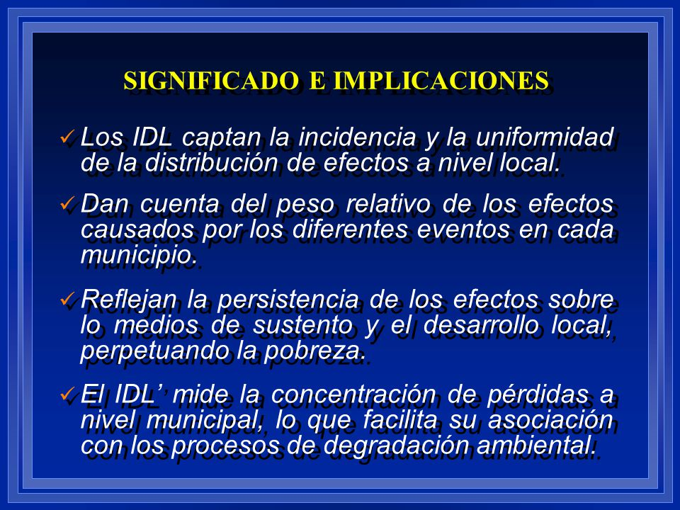 SIGNIFICADO E IMPLICACIONES