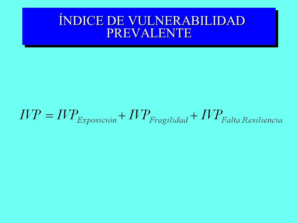 ÍNDICE DE VULNERABILIDAD PREVALENTE