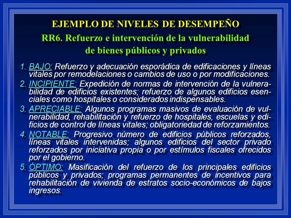 EJEMPLO DE NIVELES DE DESEMPEÑO RR6