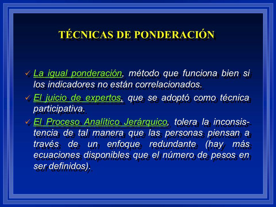 TÉCNICAS DE PONDERACIÓN