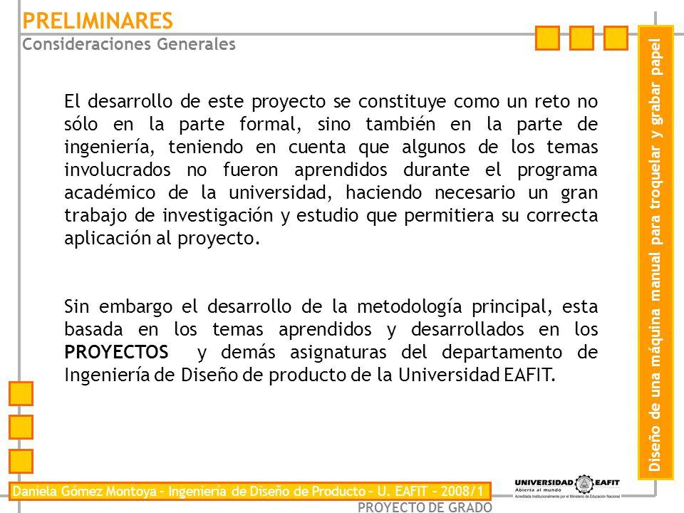 PRELIMINARES Consideraciones Generales.