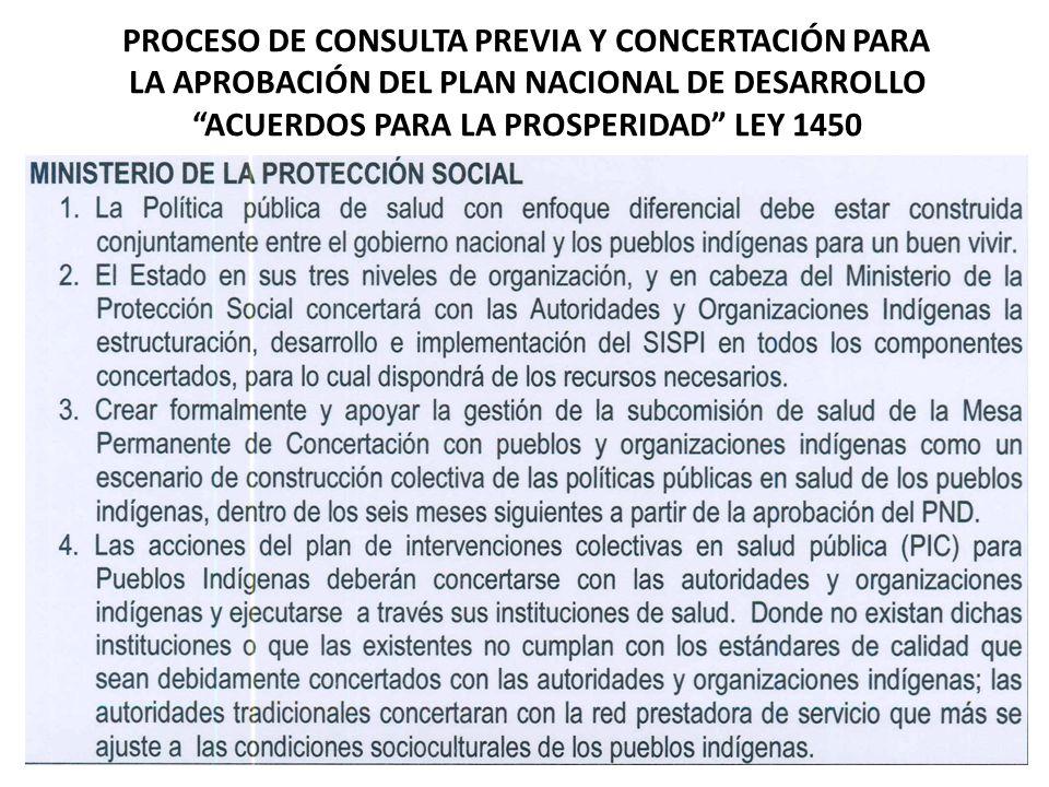 PROCESO DE CONSULTA PREVIA Y CONCERTACIÓN PARA