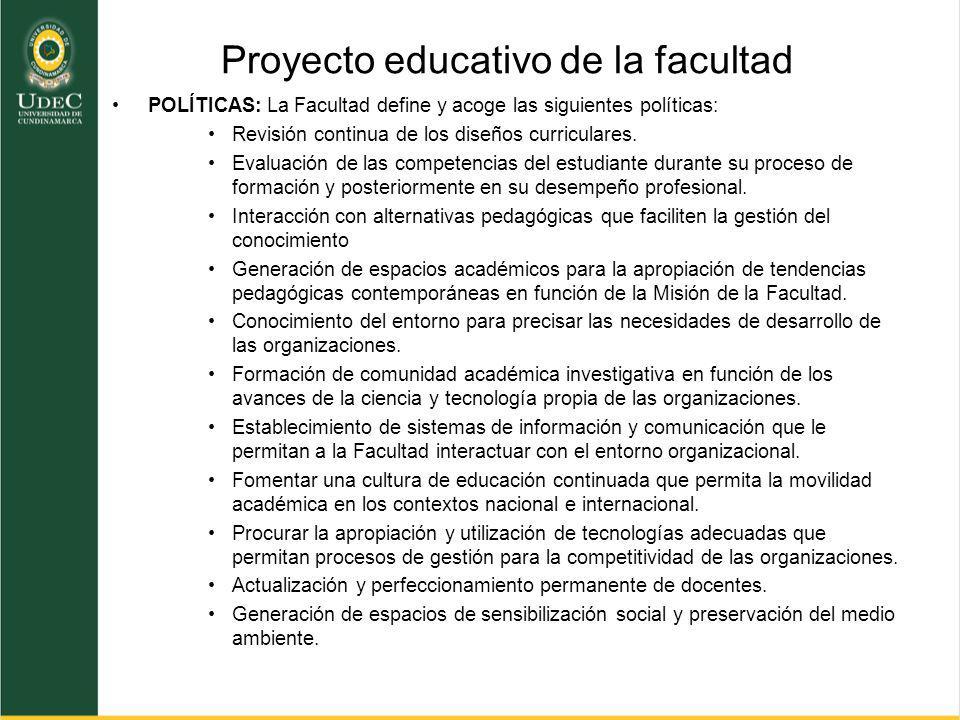 Proyecto educativo de la facultad