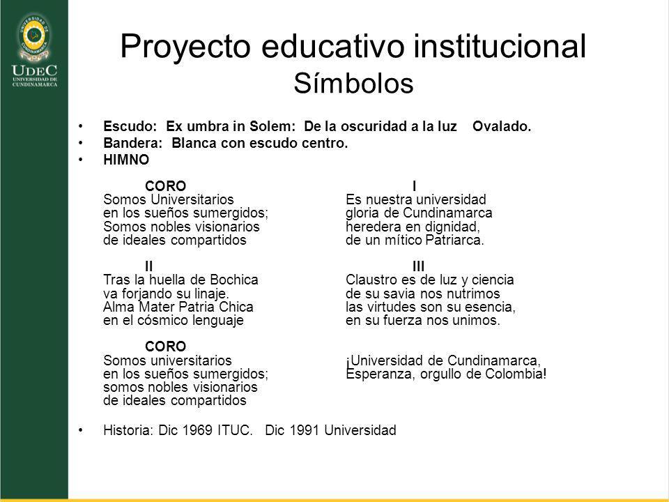 Proyecto educativo institucional Símbolos