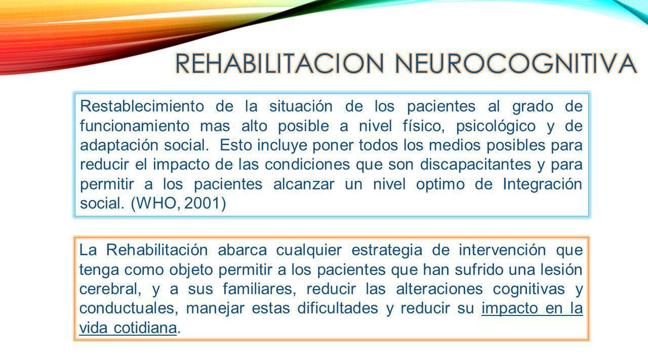 REHABILITACION NEUROCOGNITIVA