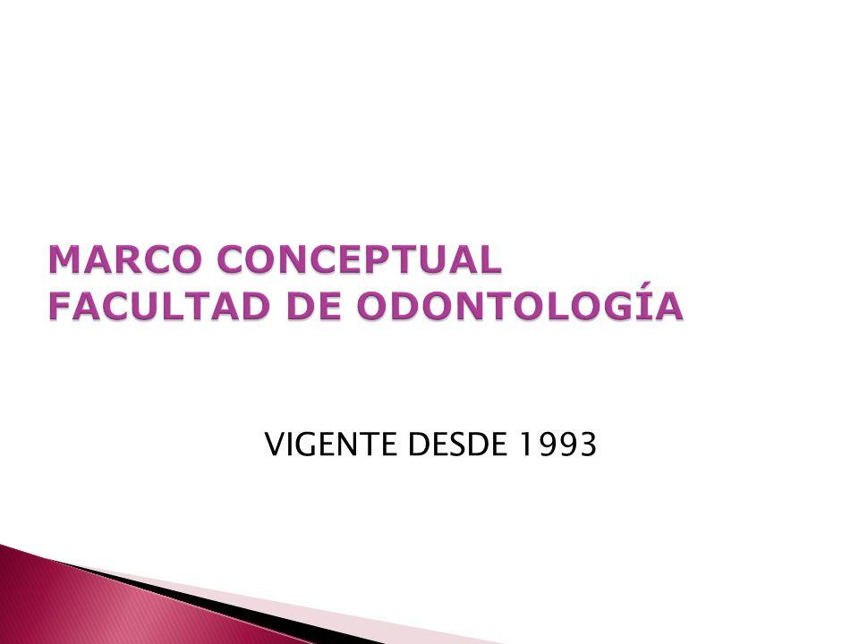 MARCO CONCEPTUAL FACULTAD DE ODONTOLOGÍA
