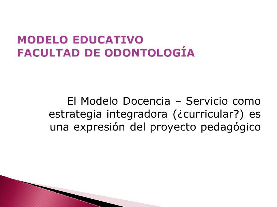 MODELO EDUCATIVO FACULTAD DE ODONTOLOGÍA