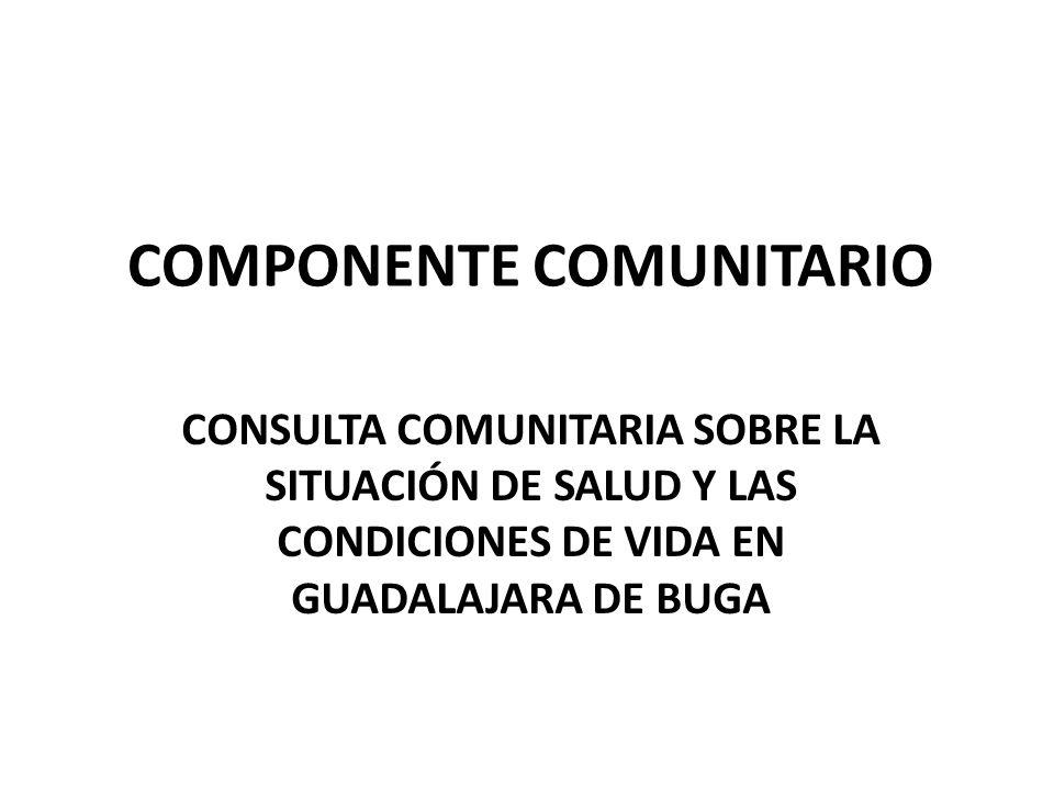 COMPONENTE COMUNITARIO