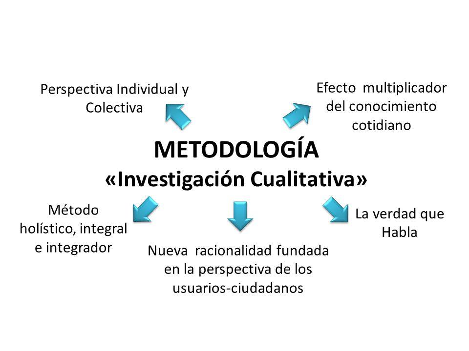 METODOLOGÍA «Investigación Cualitativa»