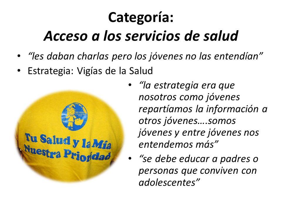 Categoría: Acceso a los servicios de salud